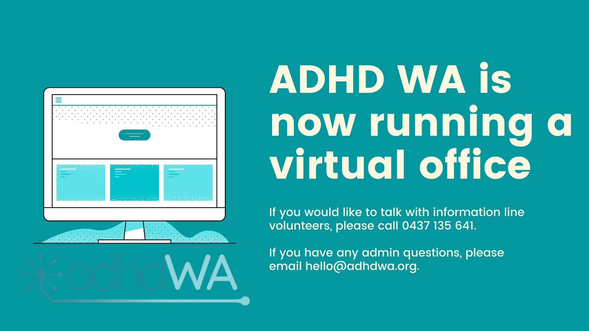ADHD WA virtual office and ADHD WA contact information
